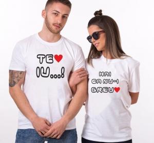 Tricouri Cuplu Personalizate - Te iubesc [1]