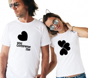 Tricouri Cuplu Personalizate -  You Complete Me2