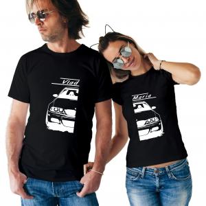 Tricouri Cupluri Auto - BMW E46 Personalizat Cu Nume Sau Numar1