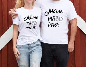 Tricouri Personalizate - Maine Ma Marit/ Maine Ma Insor1