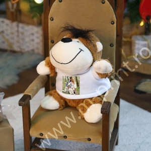 Ursulet De Plus Personalizat Cu Poza - Maimuta0