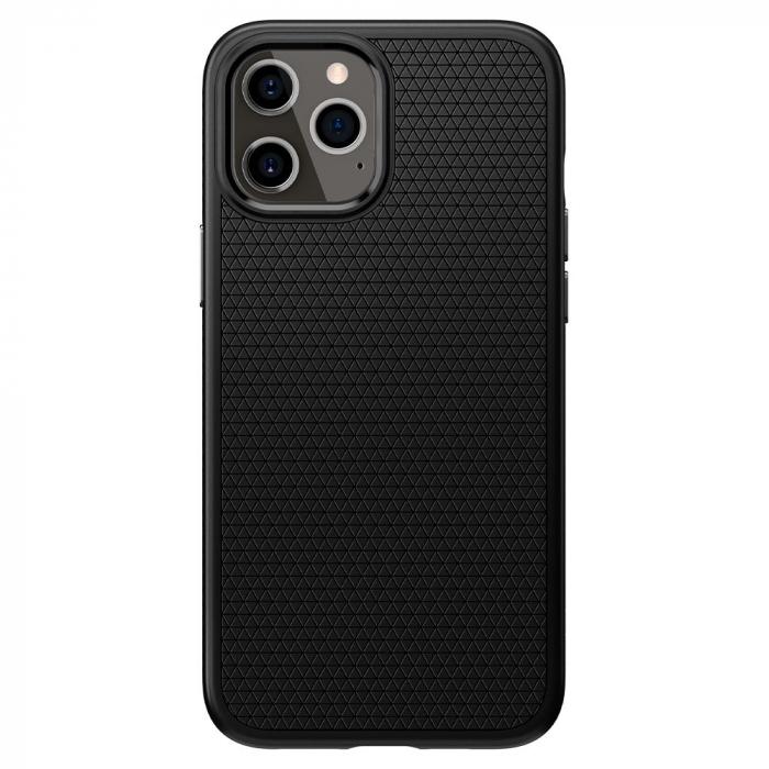 Carcasa Spigen Liquid Air iPhone 12 Pro Max Matte Black 0