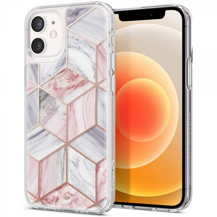 Husa Spigen Ciel Iphone 12 Mini (5.4) Pink Marble 9