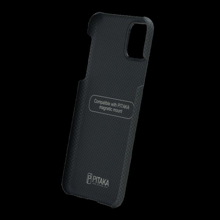 Husa Fibra Aramida Pitaka MagEZ Apple IPhone 11 Pro, Car Case Magnet Plain 4