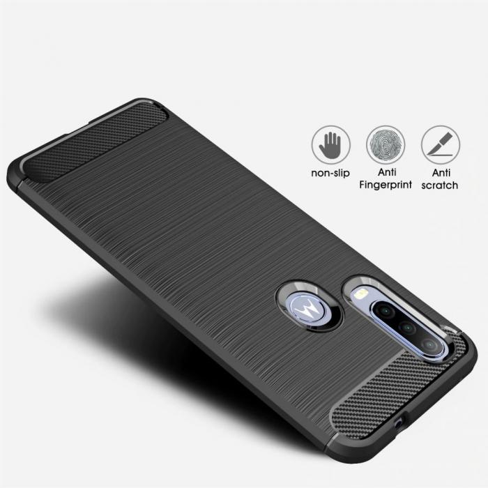 Husa Tech-Protect TPU carbon Motorola One Action [8]