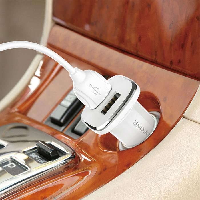 Incarcator auto Borofone BZ12 2XUSB 2.4Ah cablu lightning [5]