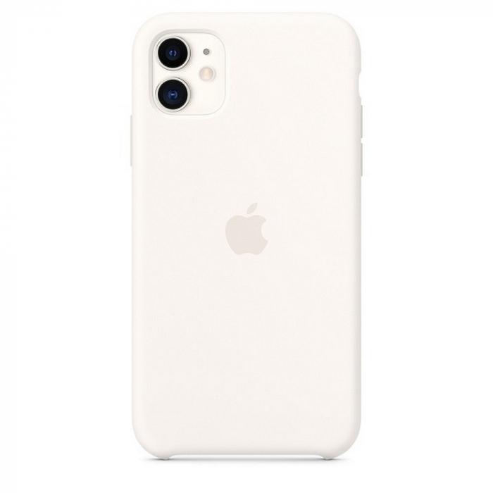Husa Originala Silicone Case APPLE iPhone 11 Pro Max alb 0