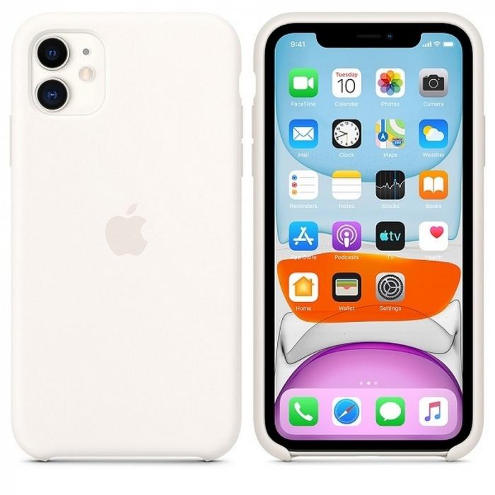 Husa Originala Silicone Case APPLE iPhone 11 Pro Max alb 2