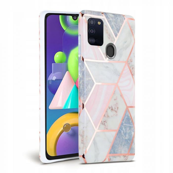 Carcasa TECH-PROTECT MARBLE Samsung Galaxy A21s PINK 0