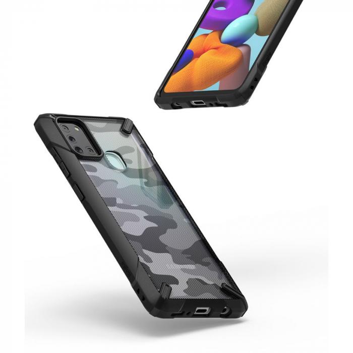 Husa Ringke Fusion X Samsung Galaxy A21s camo [2]