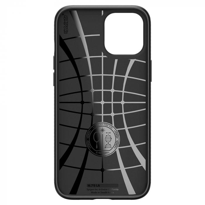 Carcasa Spigen Liquid Air iPhone 12 Pro Max Matte Black 1