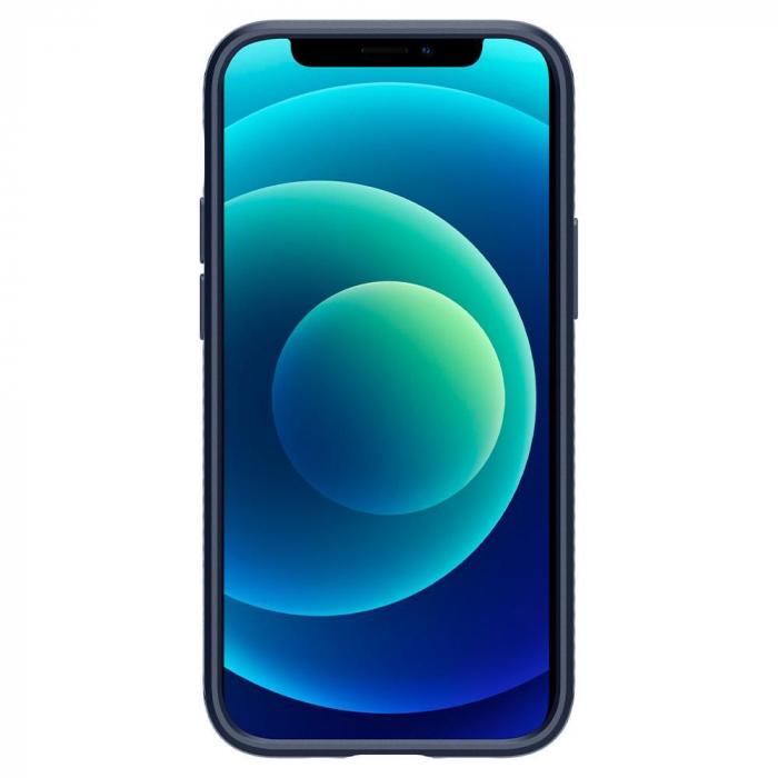 Carcasa Spigen Liquid Air iPhone 12 Mini Navy Blue 1