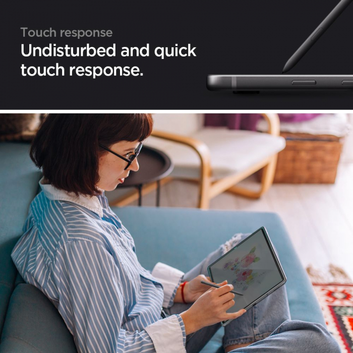 Folie sticla Spigen Glass Slim Samsung Galaxy Tab S6 Lite P610/P615 10.4 inch [2]