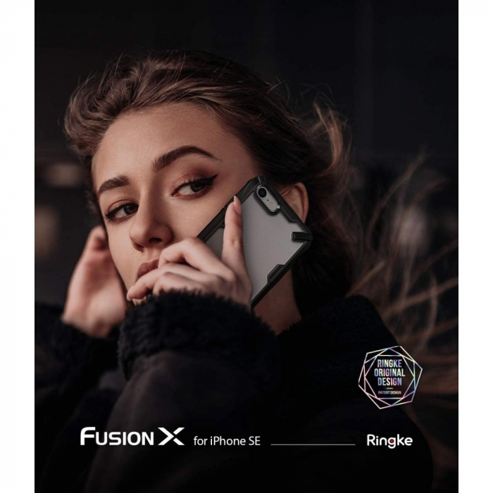 Carcasa Ringke Fusion X iPhone 7/8/SE (2020) Black 5