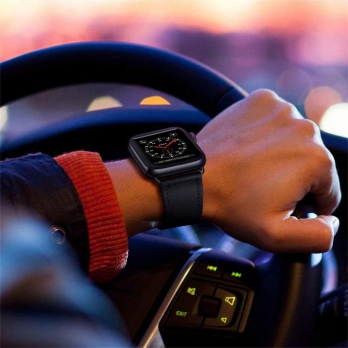 Bratara Tech-Protect Leatherfit Apple Watch 42/44mm [2]