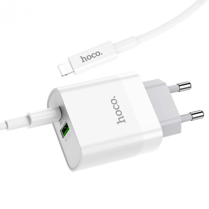 Incarcator retea Hoco C80A, USB/USB-C, Quick Charge 3.0, Power Delivery 20W [2]