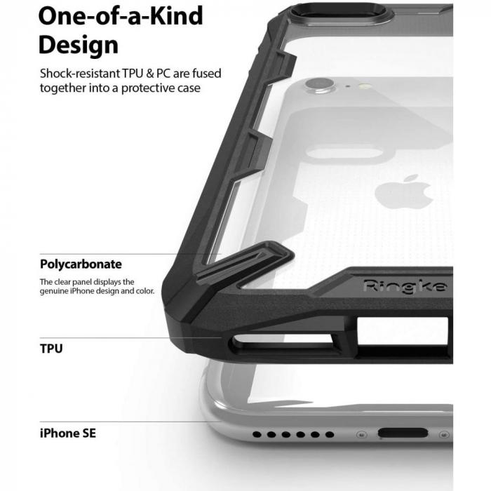 Carcasa Ringke Fusion X iPhone 7/8/SE (2020) Black 6