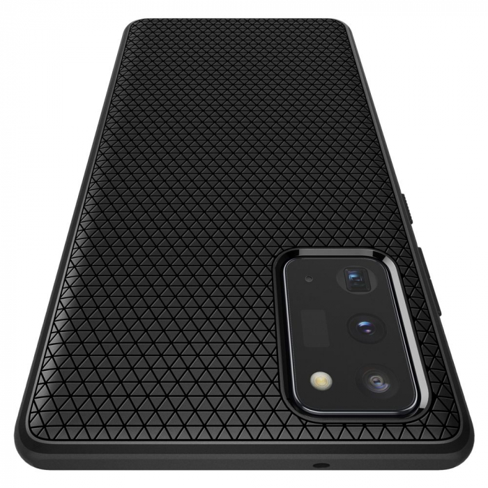 Carcasa Spigen Liquid Air Samsung Galaxy Note 20 Matte Black 3