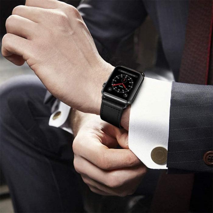 Bratara Tech-Protect Leatherfit Apple Watch 42/44mm [3]