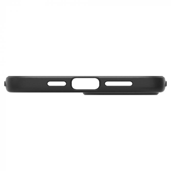 Carcasa Spigen Liquid Air iPhone 12 Pro Max Matte Black 4