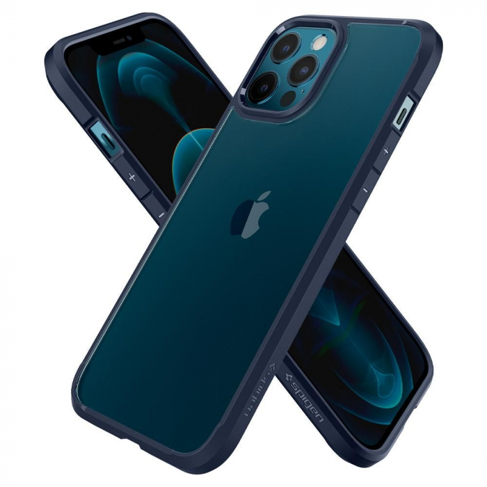 Husa Spigen Ultra Hybrid IPhone 12 Pro Max albastru [4]