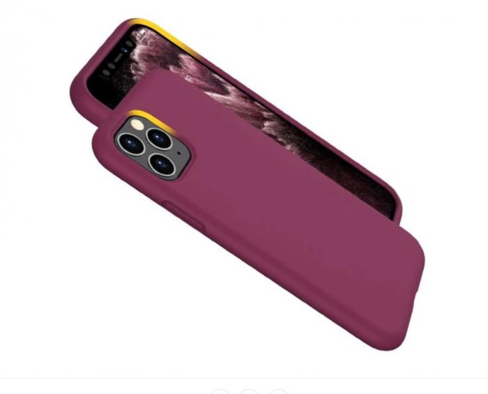 HUSA TPU SILICON IPHONE 11 PRO GUARDIAN RED WINE X-LEVEL 3