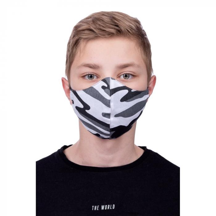 Masca protectie din material textil bumbac 100% camo gri [0]