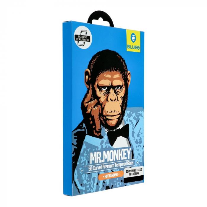 5D Mr. Monkey Glass - APP IPHO 11 Pro black (Hot Bending) 3