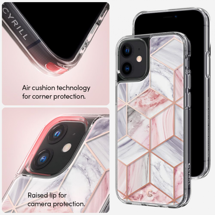 Husa Spigen Ciel Iphone 12 Mini (5.4) Pink Marble 5