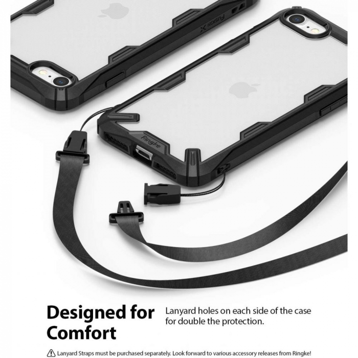 Carcasa Ringke Fusion X iPhone 7/8/SE (2020) Black 1