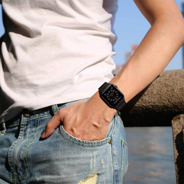 Bratara Tech-Protect Leatherfit Apple Watch 42/44mm [5]