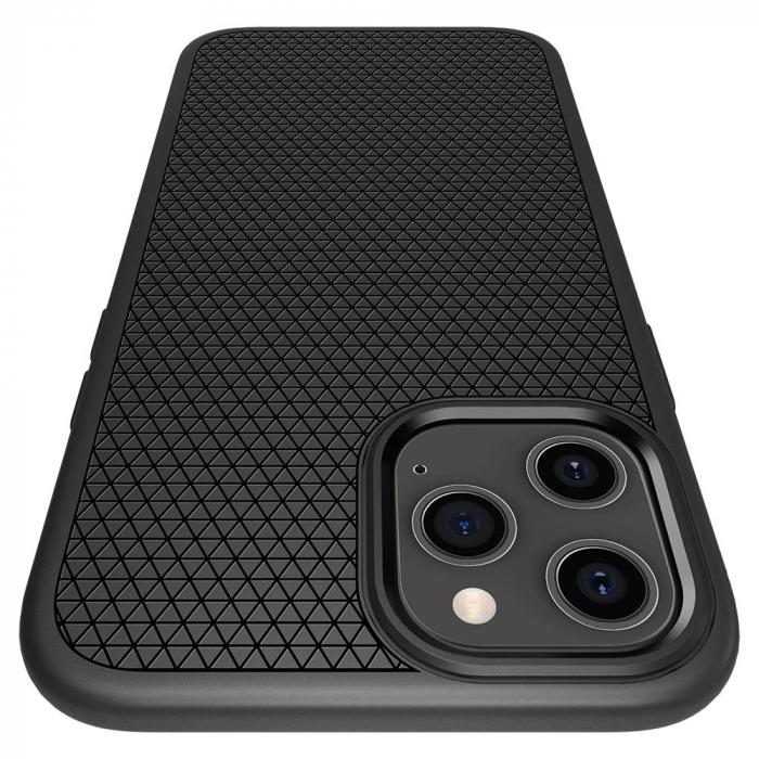 Carcasa Spigen Liquid Air iPhone 12 Pro Max Matte Black 6