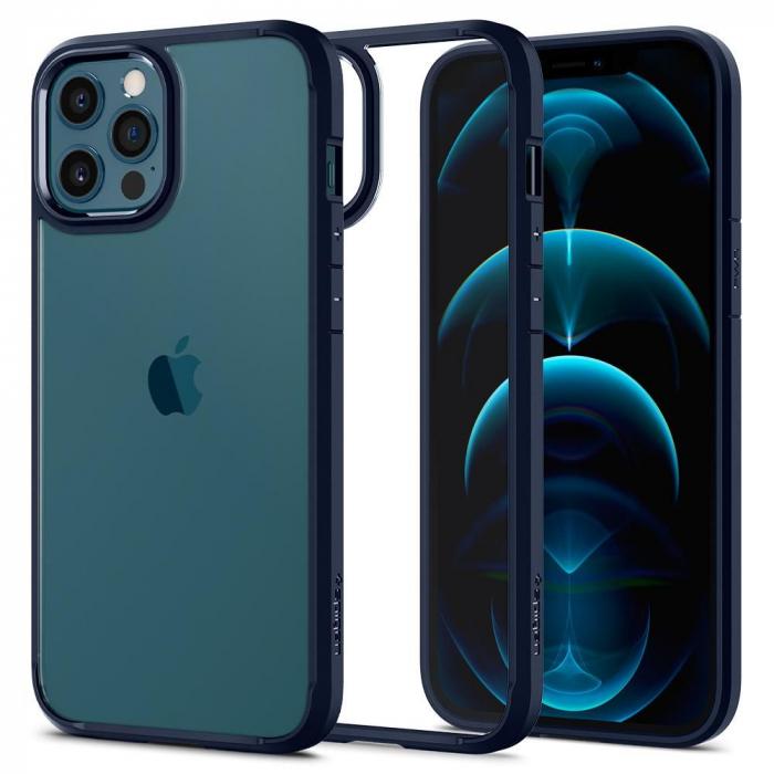 Husa Spigen Ultra Hybrid IPhone 12 Pro Max albastru [6]