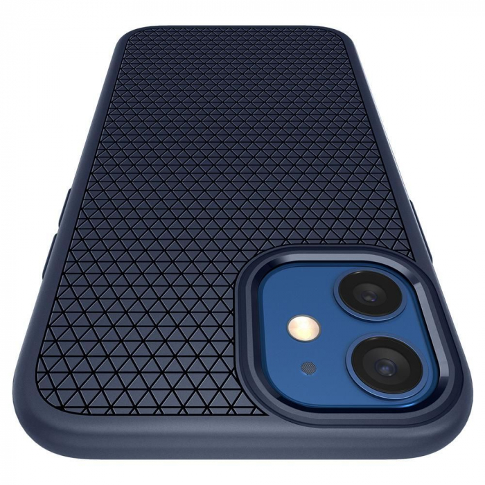 Carcasa Spigen Liquid Air iPhone 12 Mini Navy Blue 6