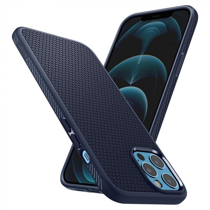 Husa Spigen Liquid Air IPhone 12/12 Pro albastru [6]