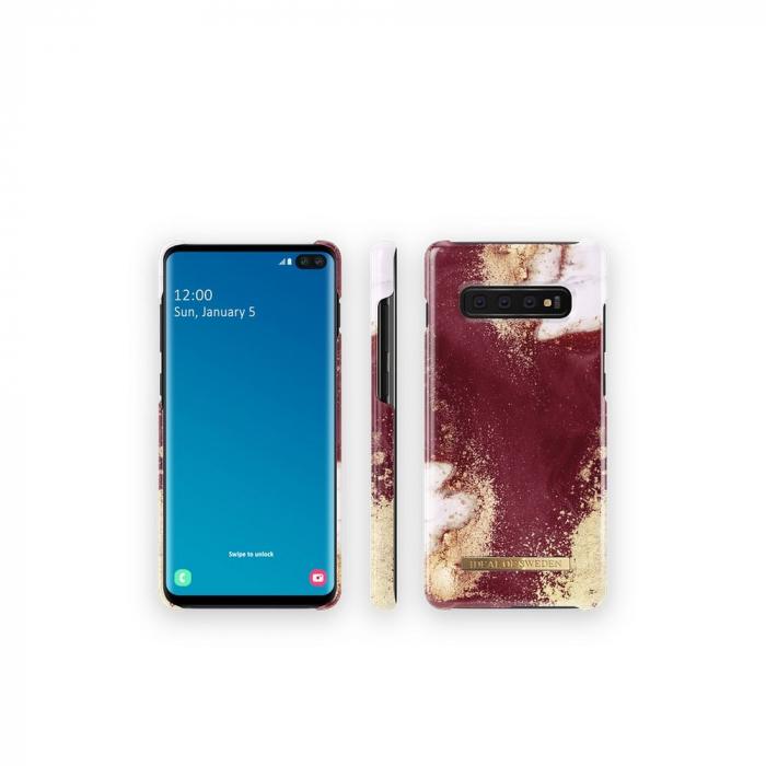 Husa Ideal Of Sweden Samsung Galaxy S10 Plus Golden Burgundy Marble [2]