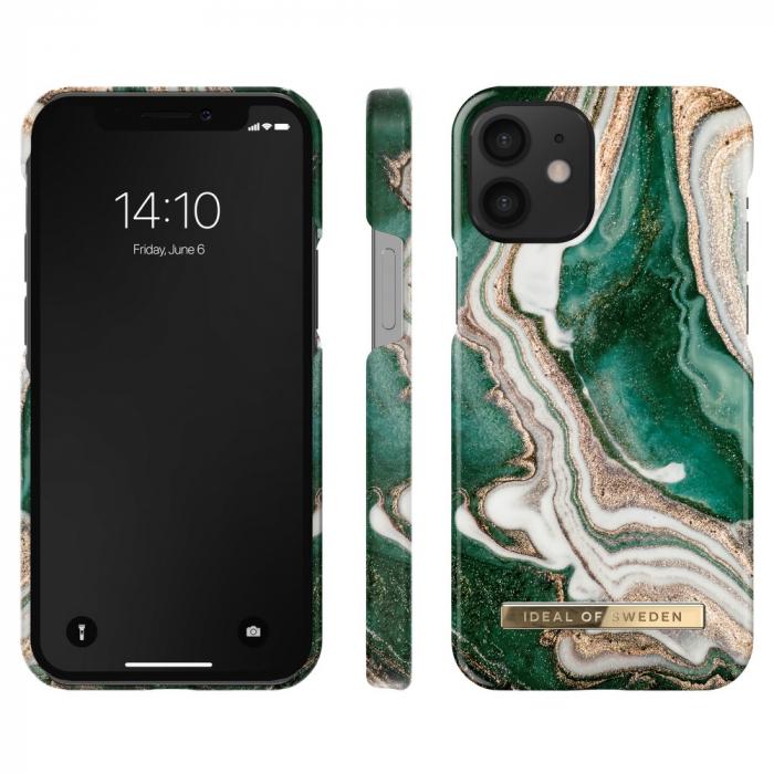 Husa Ideal Of Sweden IPhone 12 Mini Golden Jade Marble 1