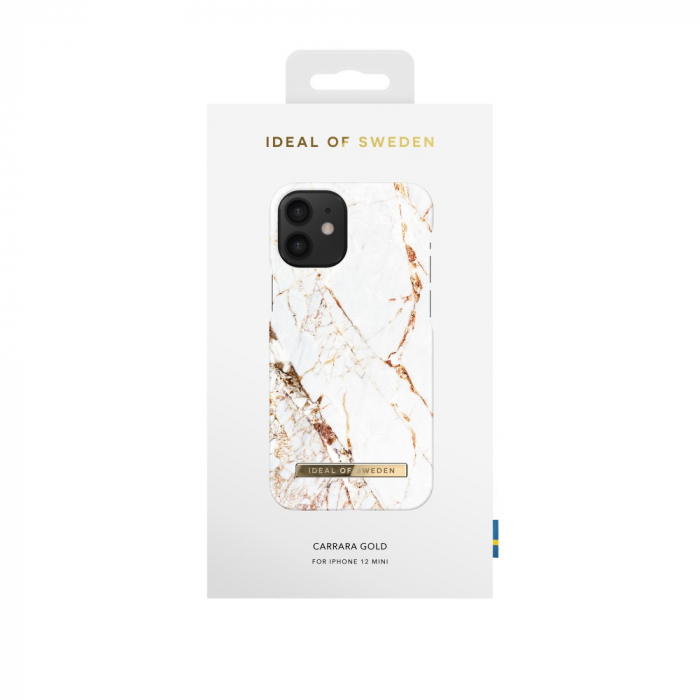 Husa Ideal Of Sweden IPhone 12 Mini Carrara Gold 2