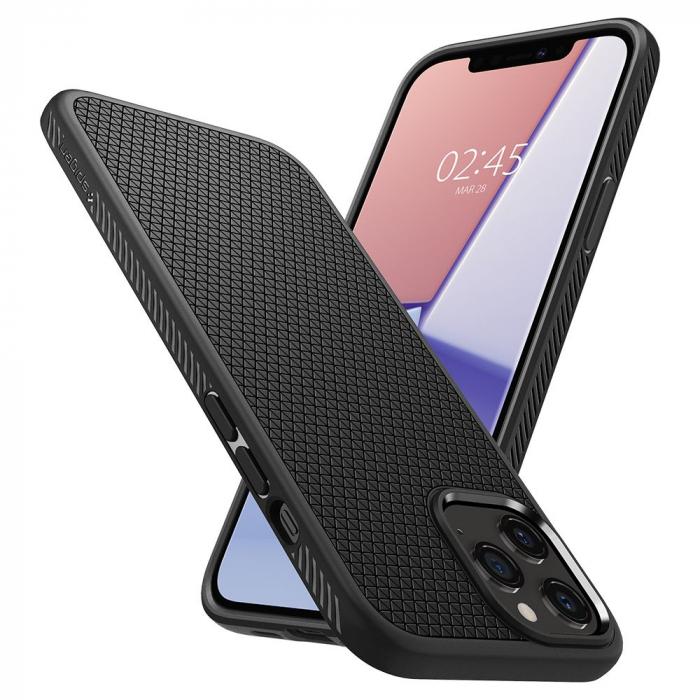 Carcasa Spigen Liquid Air iPhone 12 Pro Max Matte Black 7