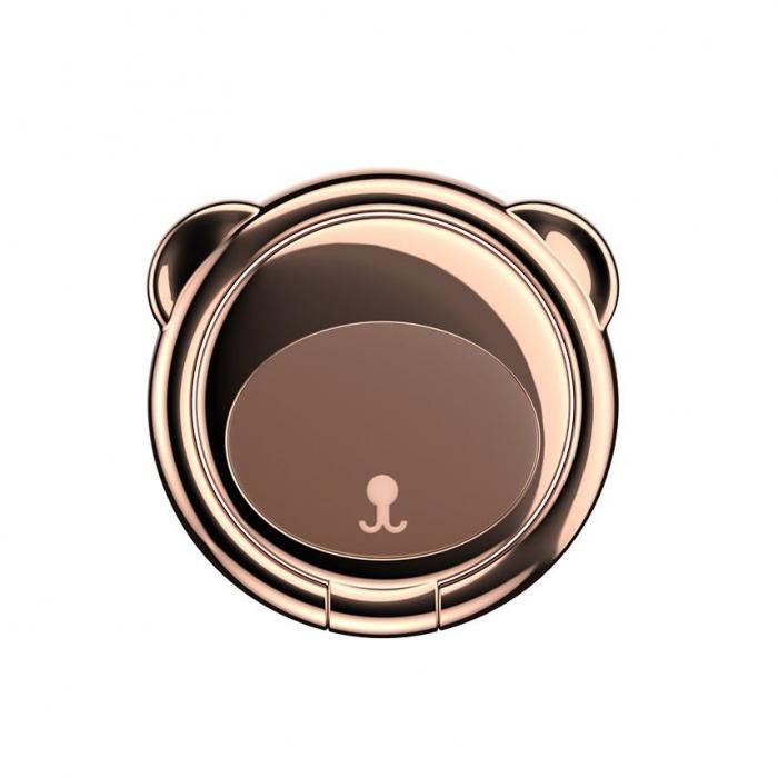 Suport telefon Inel Baseus Bear Finger Grip Stand Maro 6