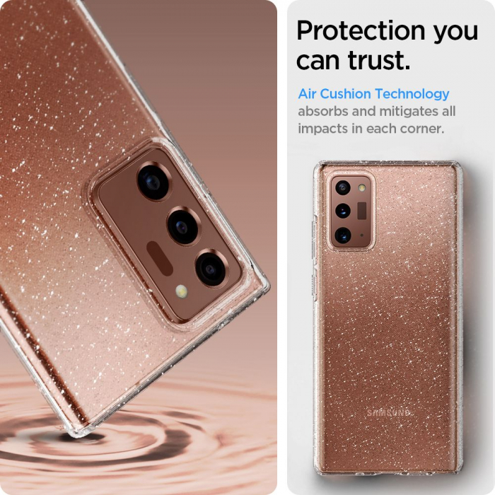Carcasa Spigen Liquid Crystal Samsung Galaxy Note 20 Ultra Glitter Crystal 5