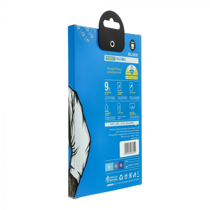 Folie 5D Mr. Monkey Glass IPhone X/XS/11 Pro Privacy 1