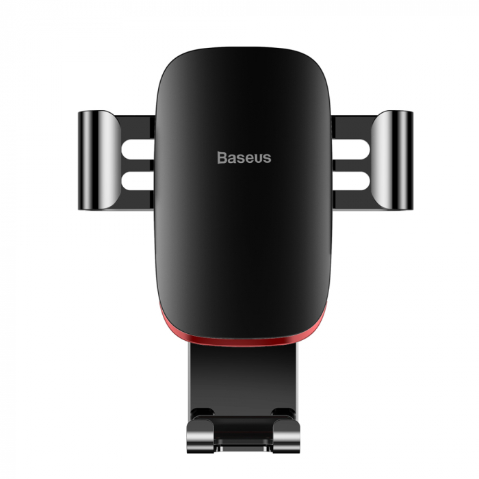 Baseus Metal Age Gravity Car Mount Phone Holder for Air Outlet black (SUYL-D01) 0