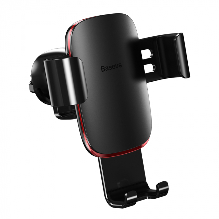 Baseus Metal Age Gravity Car Mount Phone Holder for Air Outlet black (SUYL-D01) 1