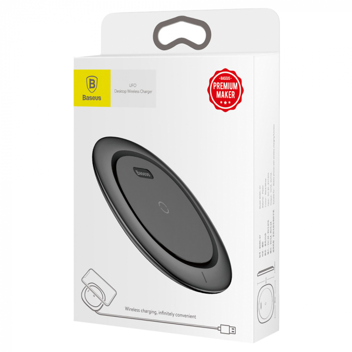 Baseus UFO Wireless Charger Desktop QI Charging Pad Fast Charge WXFD-01 5