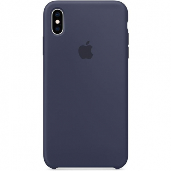Husa Apple Silicone Case IPhone XS Max Midnight Blue 0