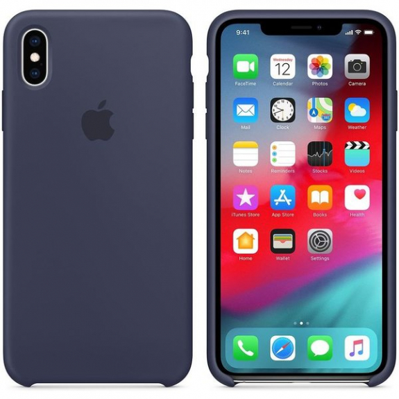 Husa Apple Silicone Case IPhone XS Max Midnight Blue 1