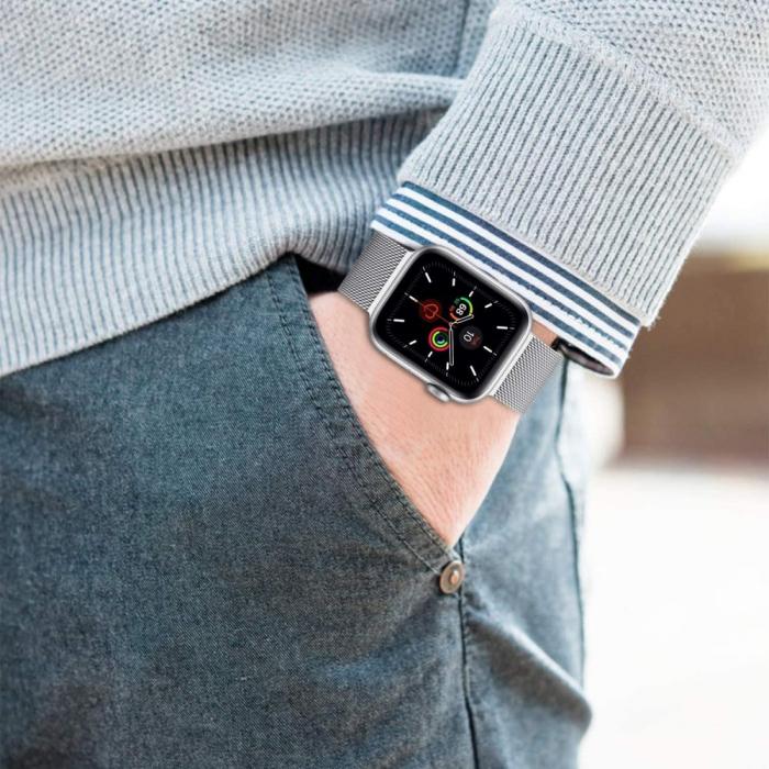 Curea otel inoxidabil Tech-Protect Milanese Apple Watch 42/44MM [3]