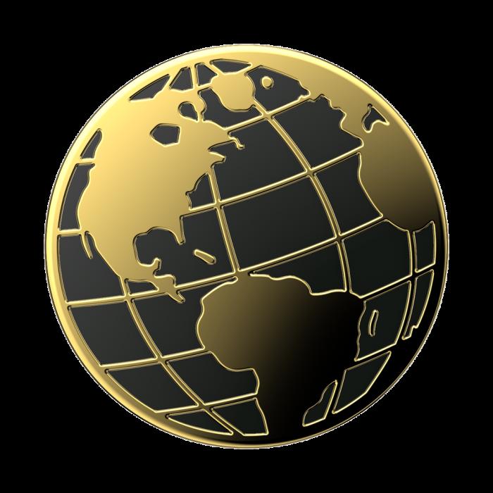 Suport stand adeziv universal Popsockets Popgrip Enamel Globe Trotter [0]