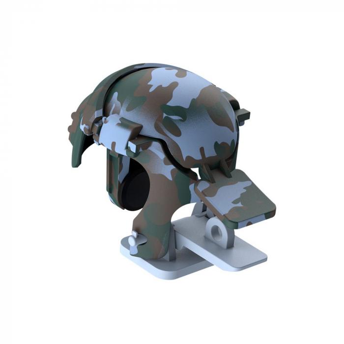 Grip-uri Baseus Level 3 Helmet PUBG Extra Buttons Camouflage blue (GMGA03-A03) 1